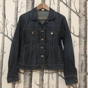 J Crew medium wash denim jacket